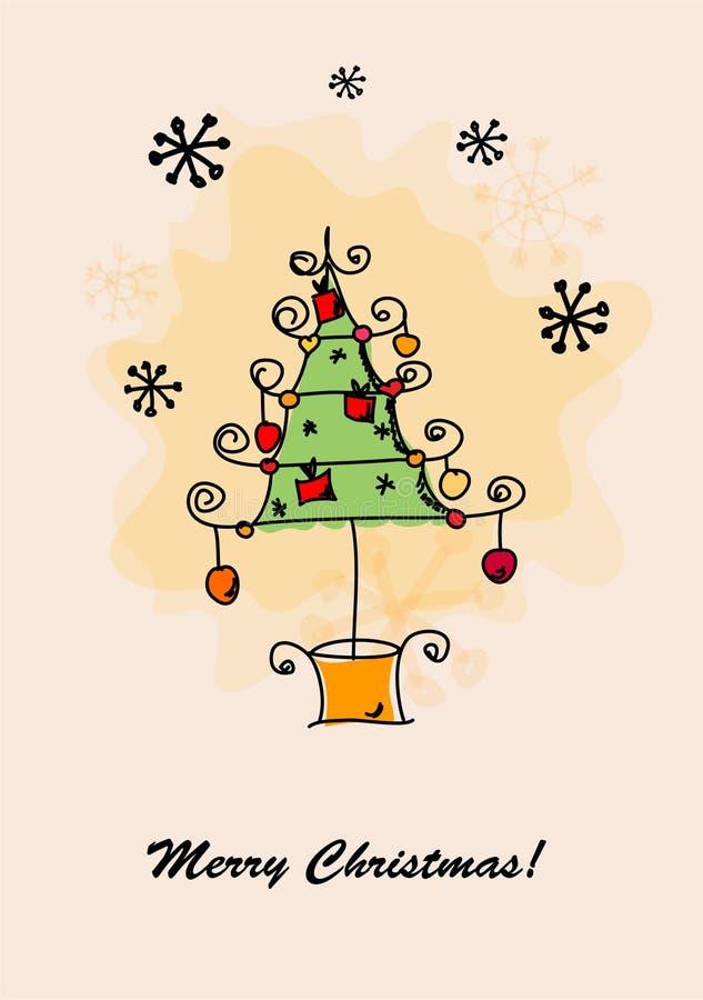 Cartes de Noël, vecteur illustration libre de droits