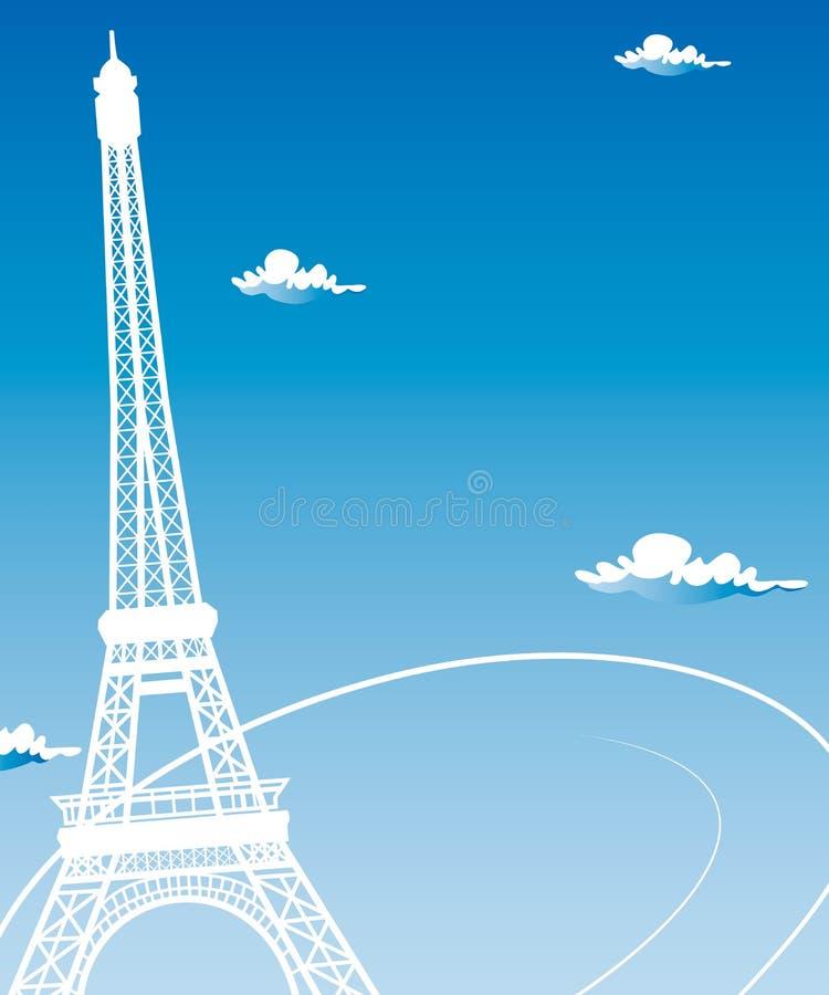 Cartes de Paris comme amour de symbole illustration de vecteur