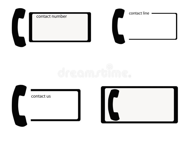 Cartes de téléphone illustration libre de droits