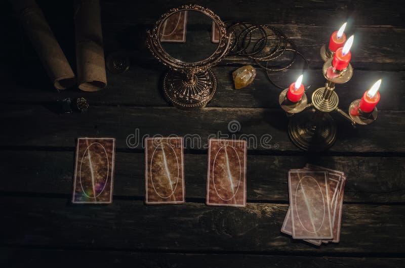 Cartes de Tarot photographie stock libre de droits