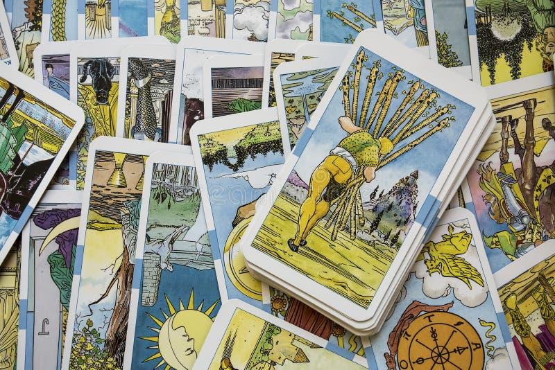 Cartes de Tarot photo stock