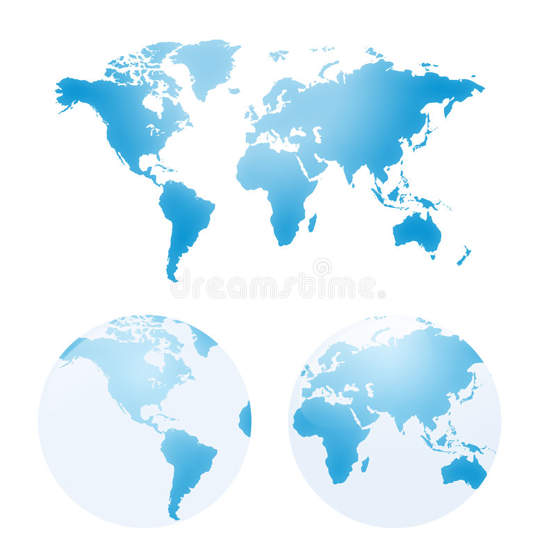 Cartes de vecteur de la terre illustration libre de droits