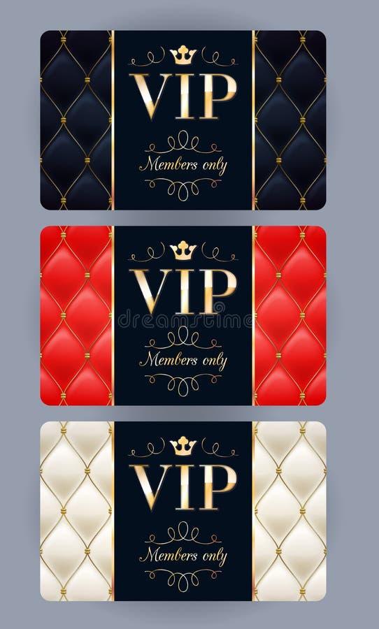 Cartes de VIP avec le fond piqué par résumé illustration de vecteur