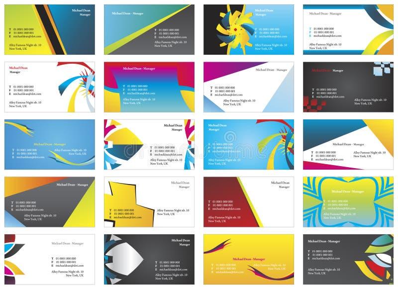 cartes de visite 10 illustration stock