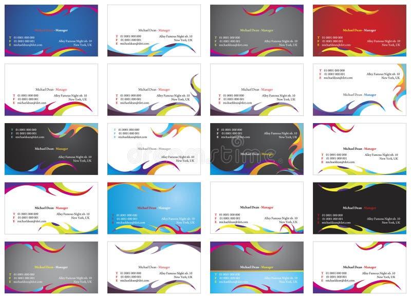 cartes de visite 2 illustration de vecteur