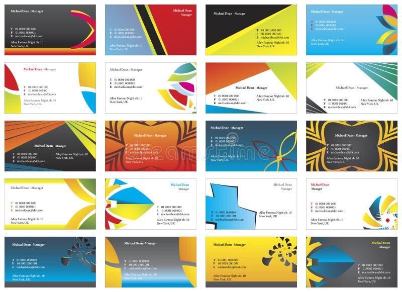 cartes de visite 9 illustration libre de droits