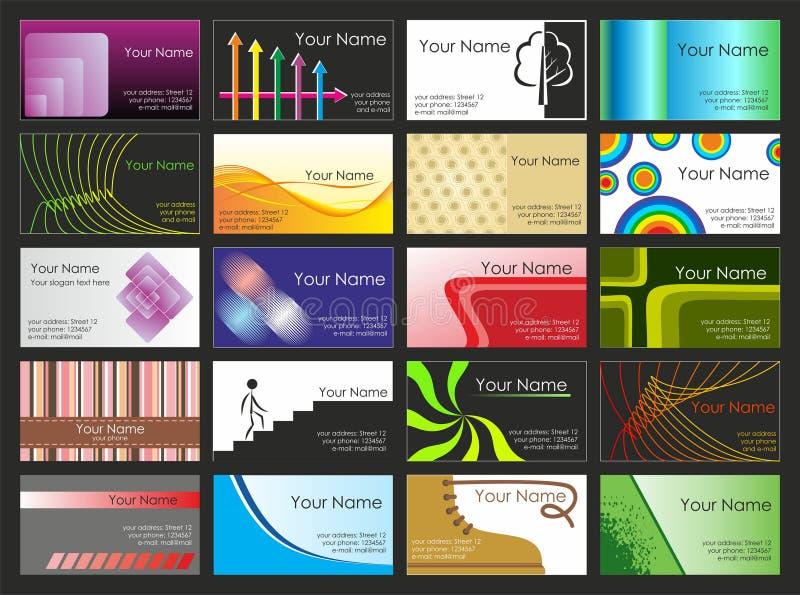Cartes de visite professionnelle de visite illustration de vecteur
