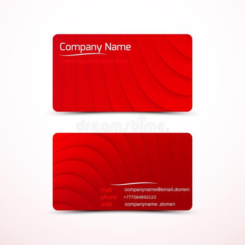Cartes de visite professionnelle de visite, calibre ou cartes en liasse de visite illustration libre de droits