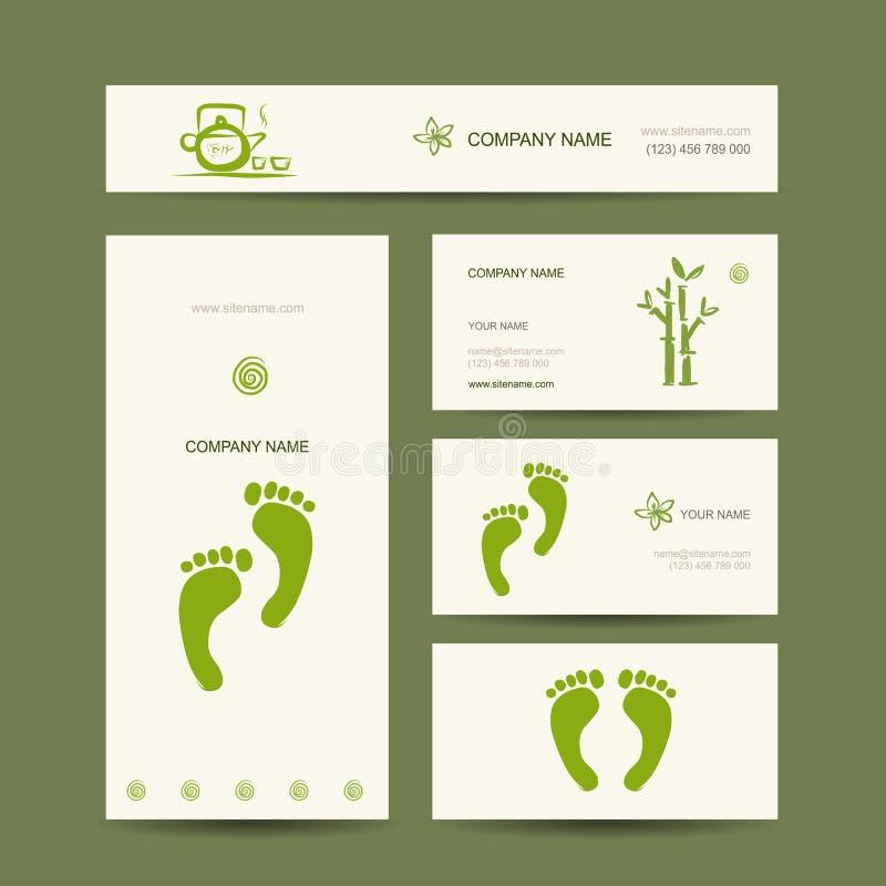 cartes de visite professionnelle de visite conception massage de pied illustration de vecteur. Black Bedroom Furniture Sets. Home Design Ideas