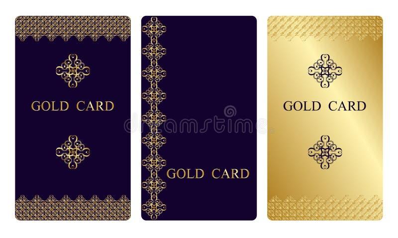 Cartes de visite professionnelle de visite d'or illustration libre de droits