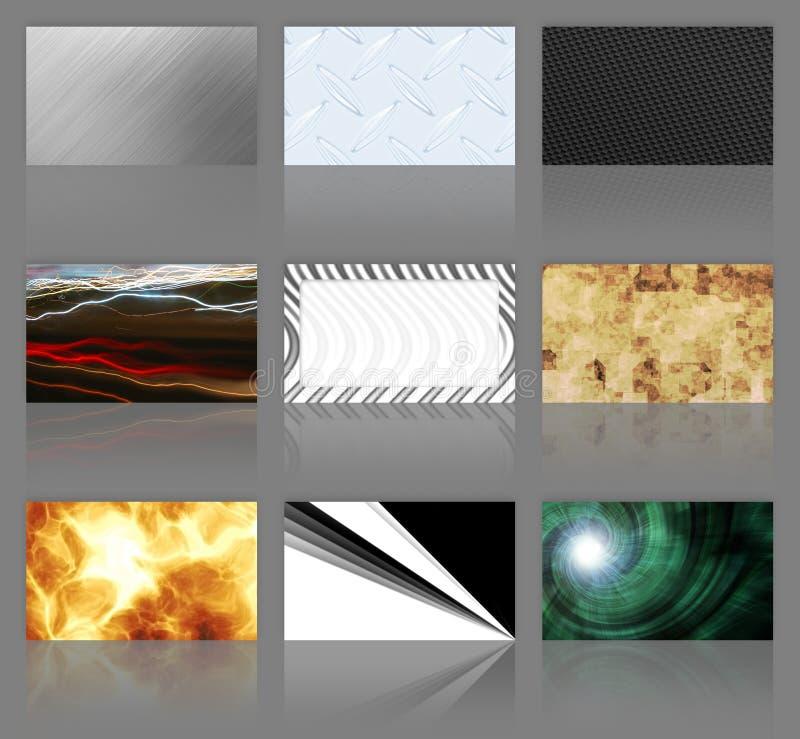 cartes de visite professionnelle de visite d'assortiment neuf illustration de vecteur