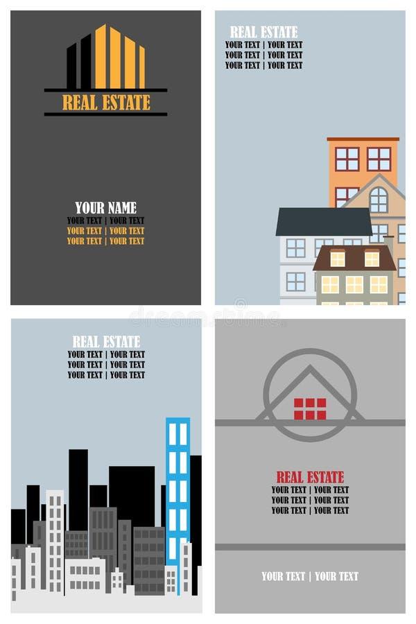 Cartes de visite professionnelle de visite d'immeubles illustration libre de droits