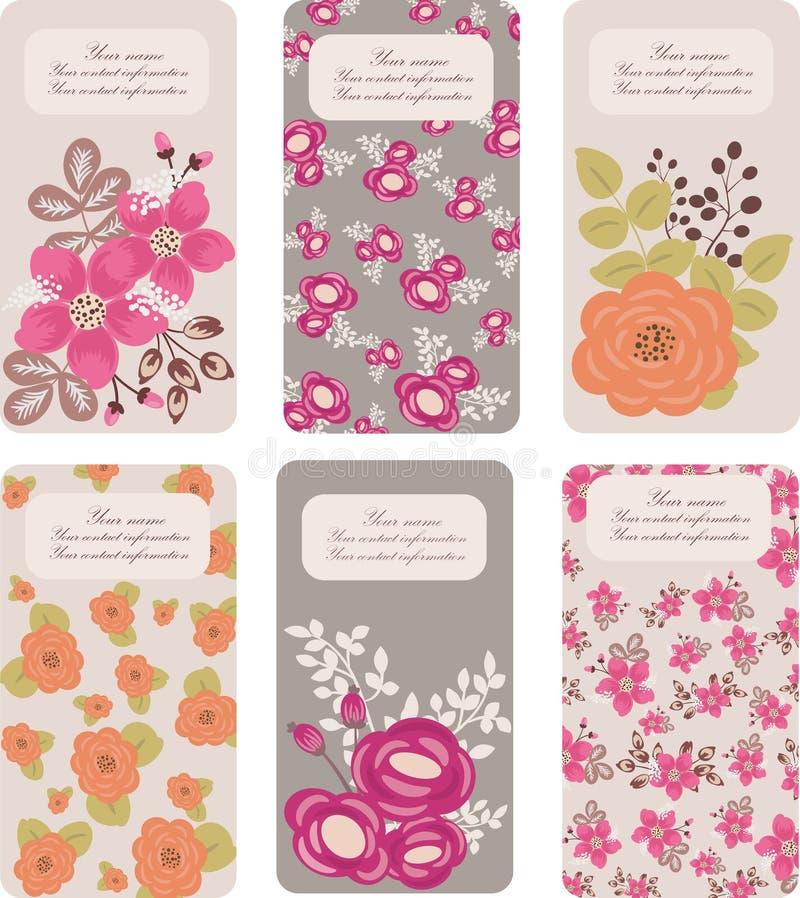 Cartes de visite professionnelle de visite florales illustration stock