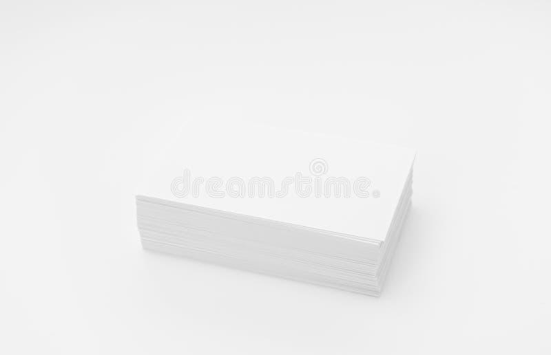 Cartes de visite professionnelle de visite sur le fond blanc photos libres de droits