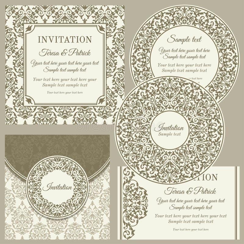 Cartes de visite professionnelle ou invitations de visite classiques réglées illustration stock