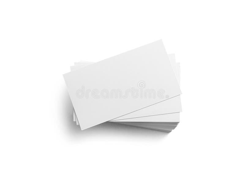 Cartes de visite professionnelle de visite sur le blanc photo libre de droits