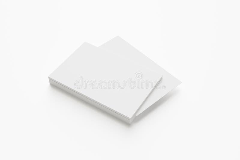 Cartes de visite professionnelle vierges de visite sur le blanc photo stock