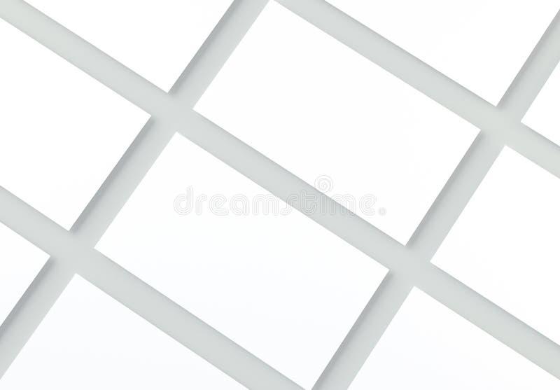 Cartes de visite professionnelle vierges de visite sur le fond gris Maquette pour l'identité de marquage à chaud illustration de vecteur