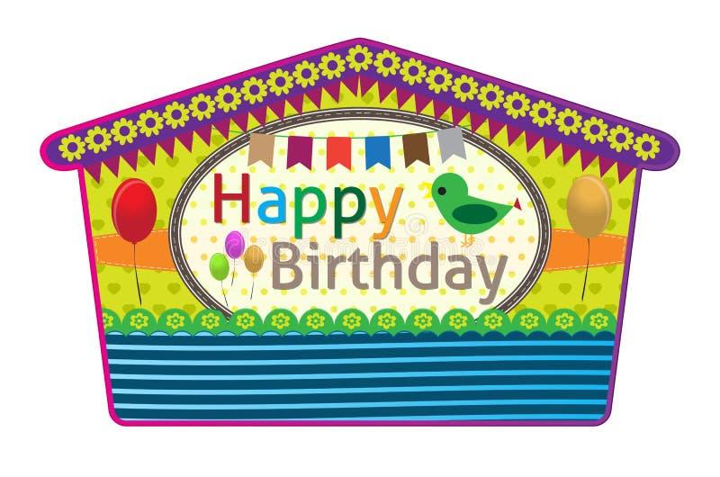 Cartes de voeux d'anniversaire illustration stock