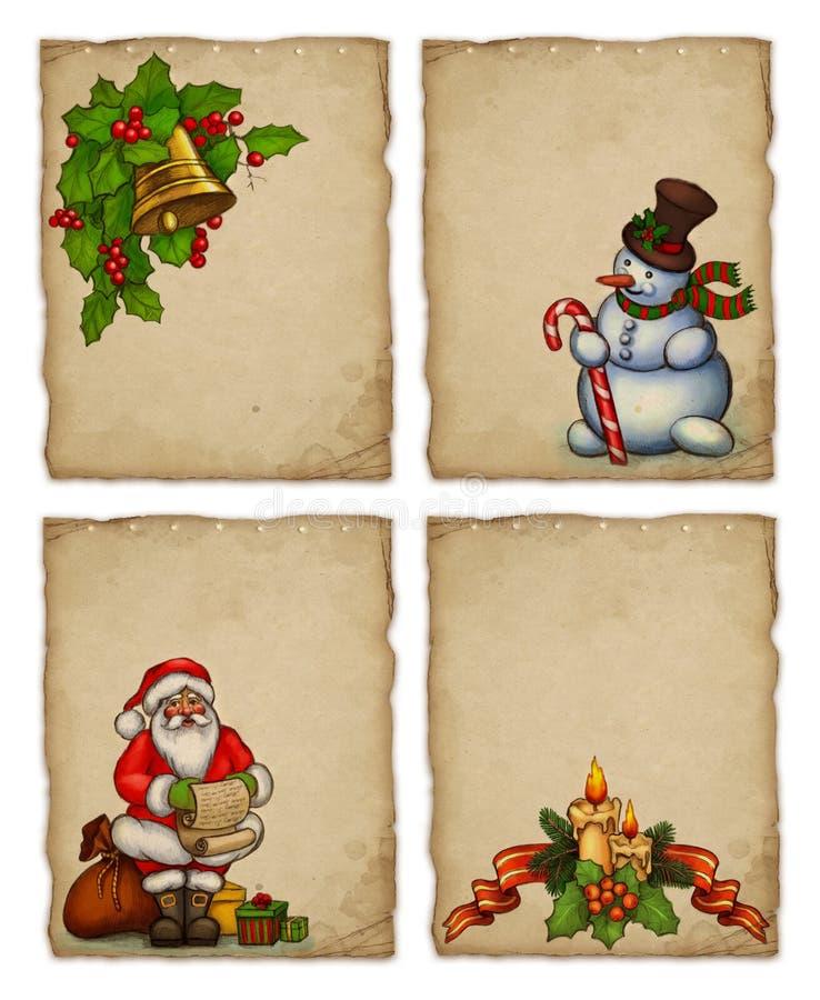 Cartes de voeux de Noël illustration libre de droits