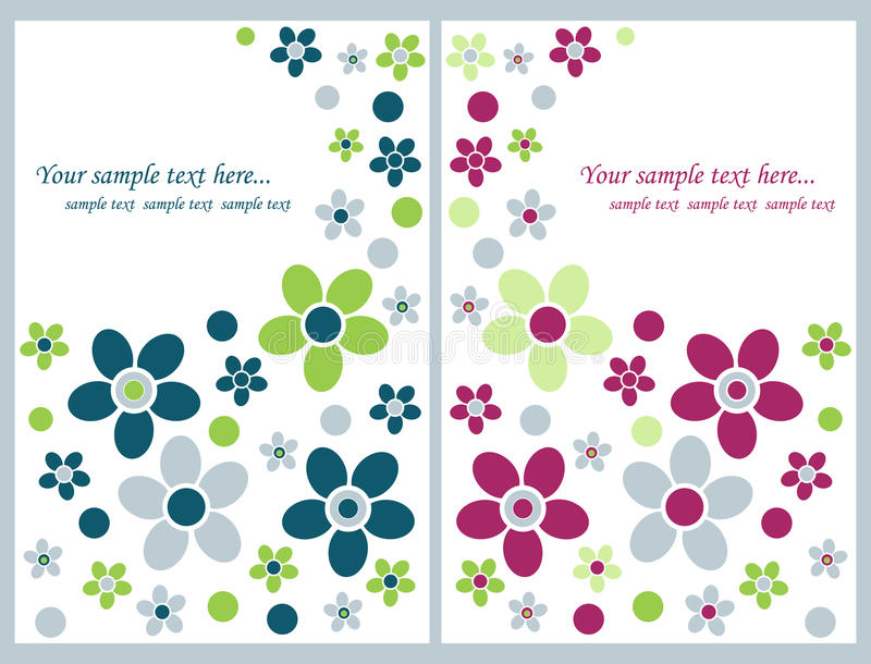 Cartes de voeux florales illustration stock