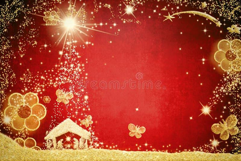 Cartes de voeux de Noël magiques photographie stock libre de droits