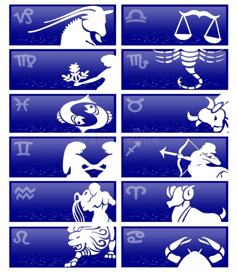 Cartes de zodiaque illustration libre de droits