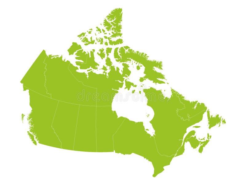 Cartes du Canada avec des provinces illustration stock