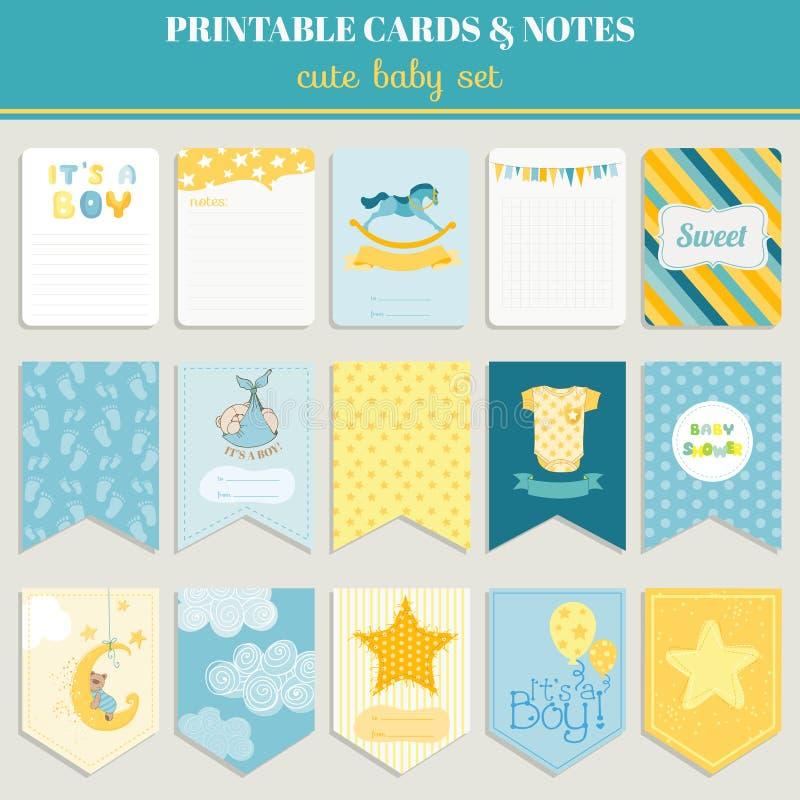 Cartes en liasse de bébé garçon - pour votre célébration illustration libre de droits