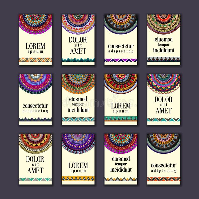 Download Cartes En Liasse De Bannières De Vintage Mandala Ornemental, éléments Décoratifs De Cercle Ethnique Illustration Stock - Illustration du affaires, islam: 77158107