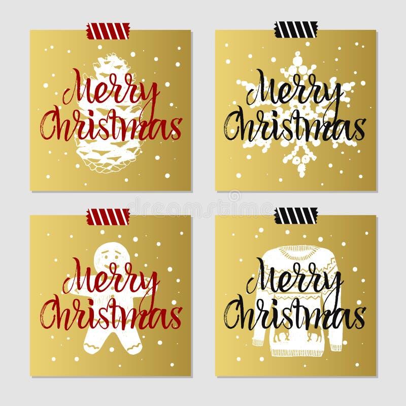Cartes en liasse de Noël illustration libre de droits