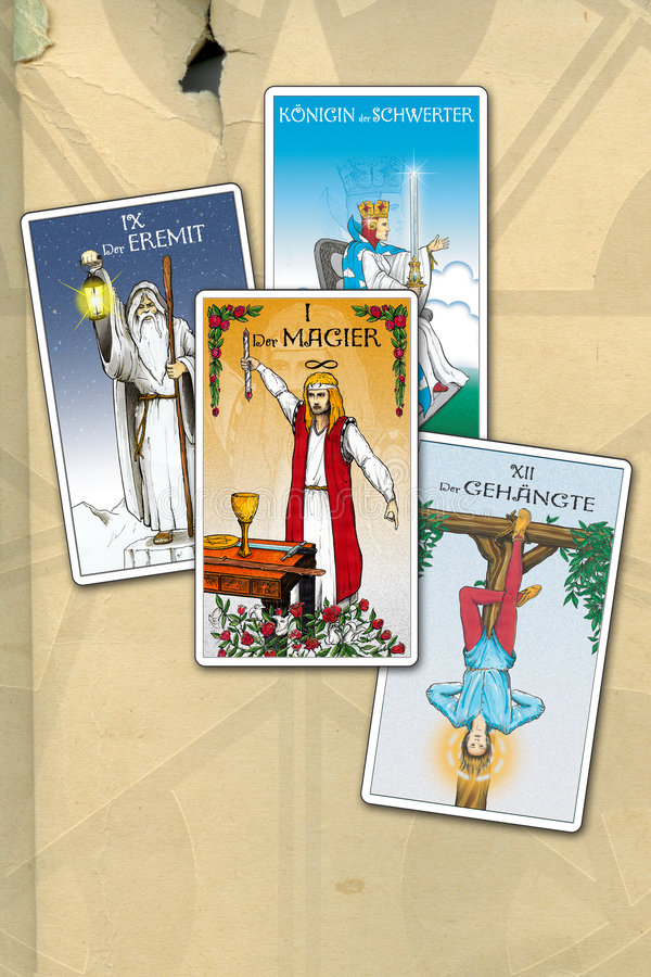Cartes en liasse de Tarot illustration de vecteur