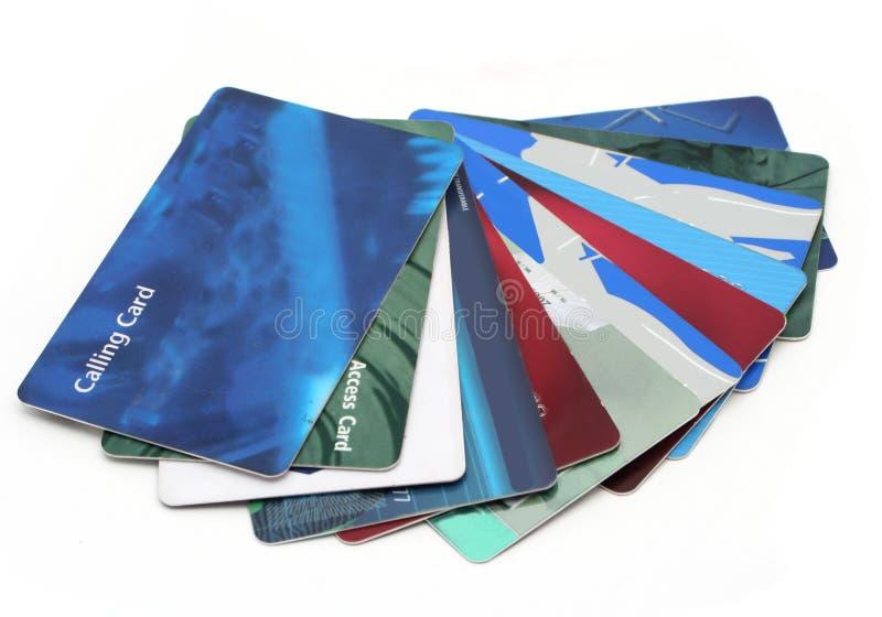 Cartes en plastique images libres de droits