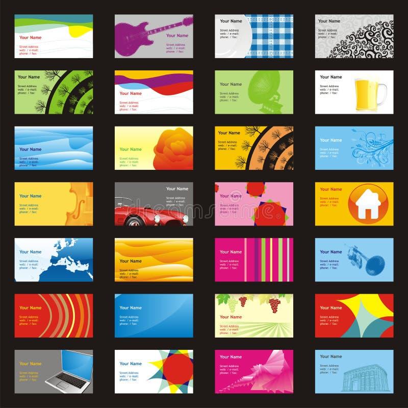Cartes entièrement editable de visite de vecteur avec l différent illustration libre de droits