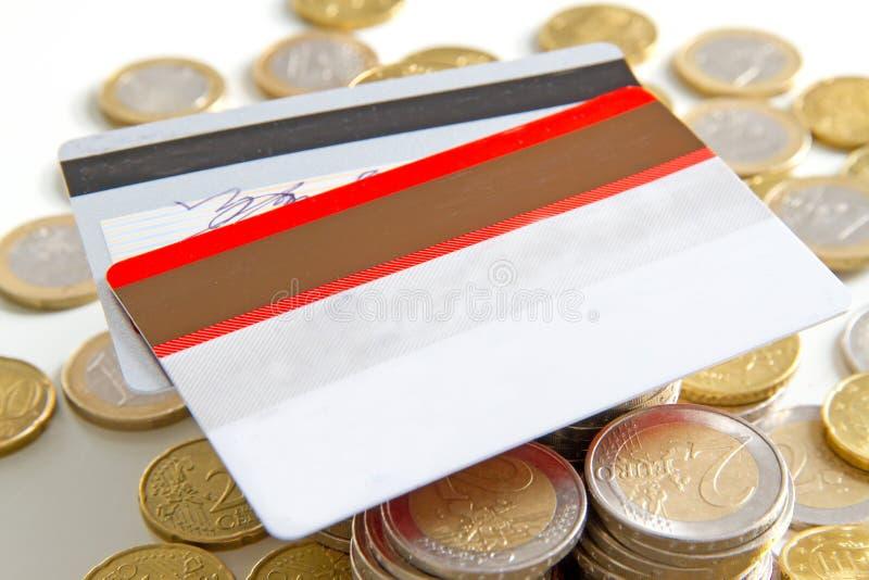 Cartes et argent images libres de droits