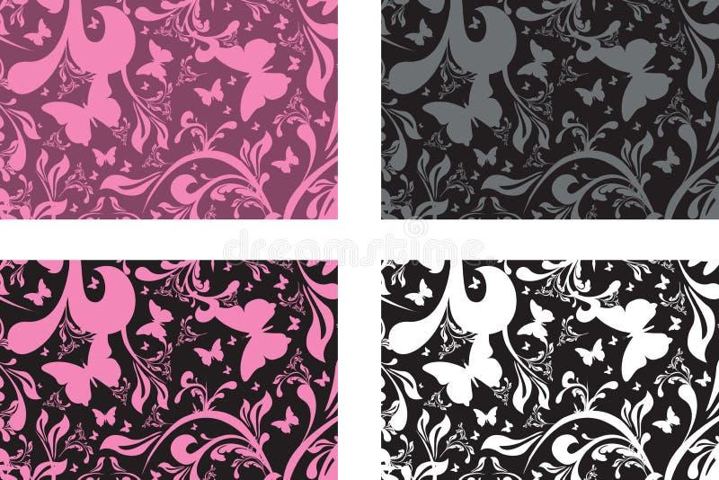 Cartes florales illustration stock