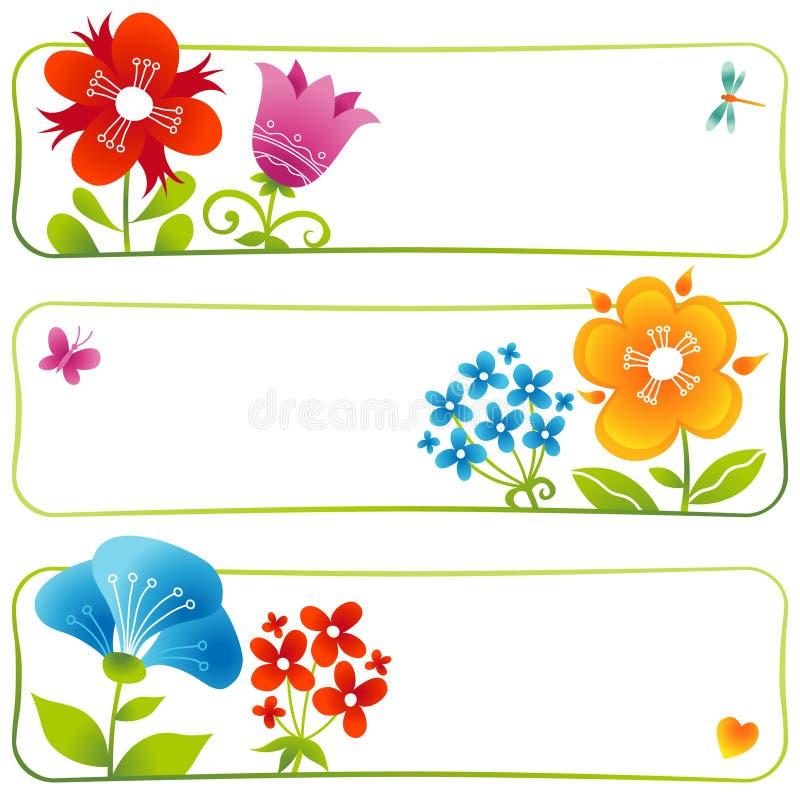 Cartes florales de vecteur illustration libre de droits