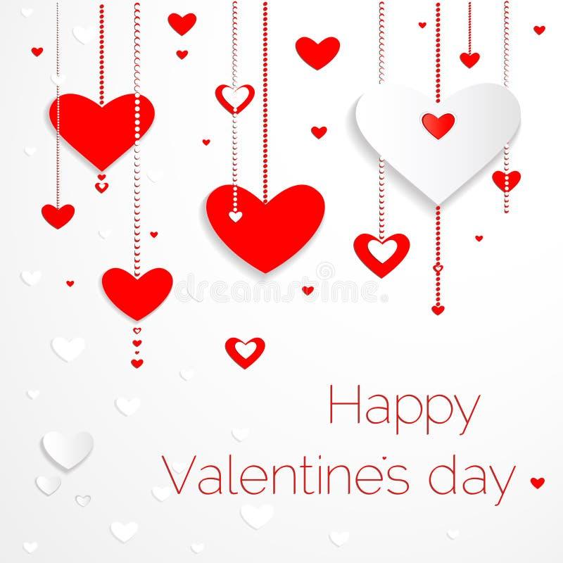 Cartes heureuses de jour de valentines illustration stock
