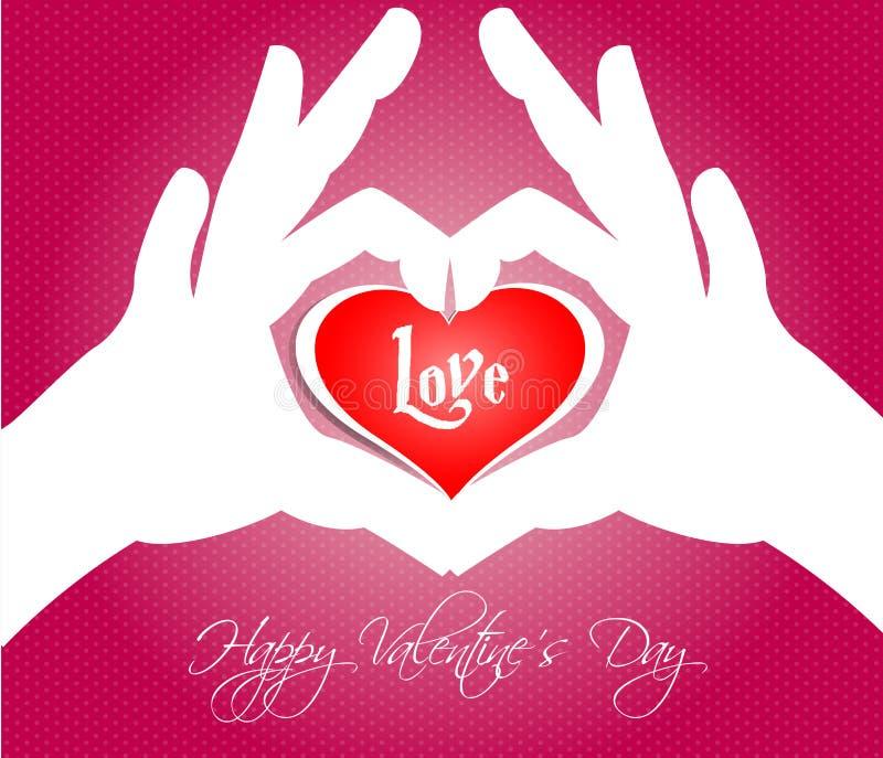 Cartes heureuses de jour de valentines avec des coeurs illustration de vecteur