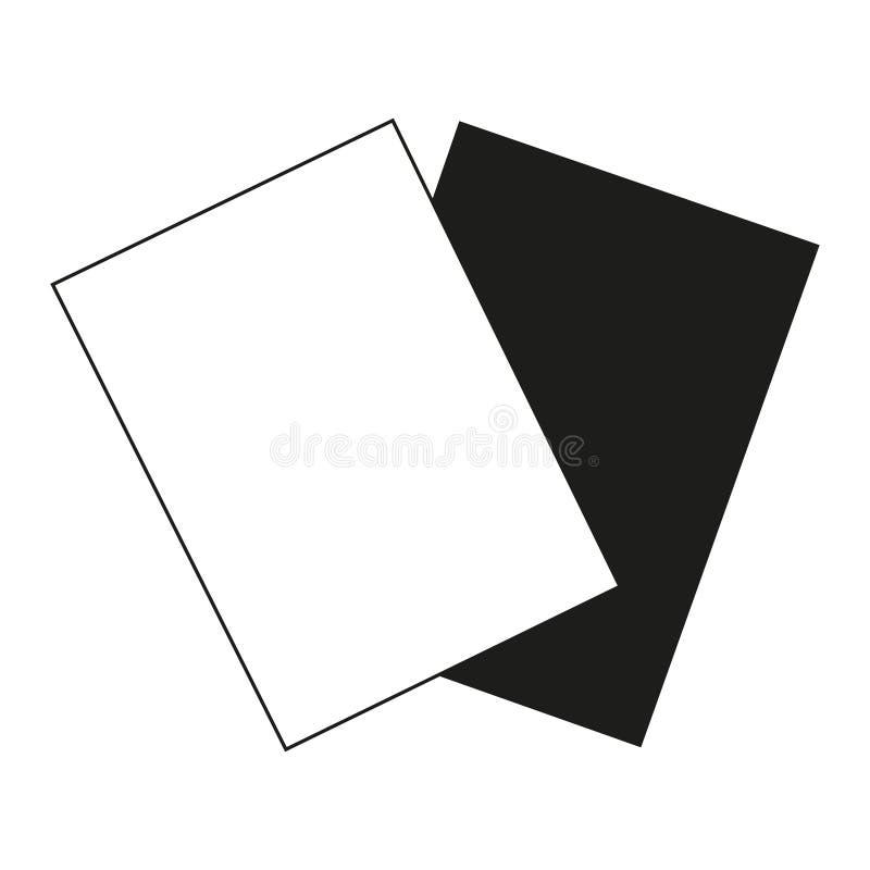 Cartes noires et blanches plates d'arbitre illustration libre de droits