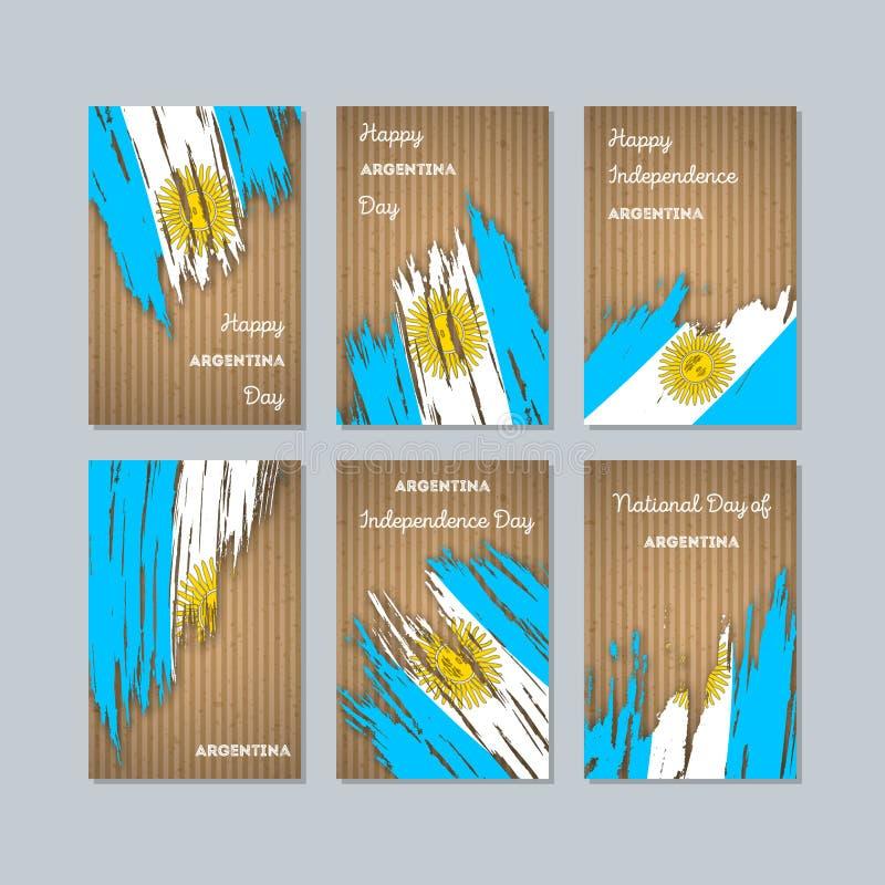 Cartes patriotiques de l'Argentine pour le jour national illustration de vecteur