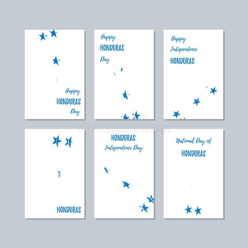 Cartes patriotiques du Honduras pour le jour national illustration stock