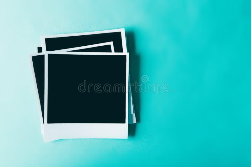Cartes polaroïd de photo photographie stock libre de droits