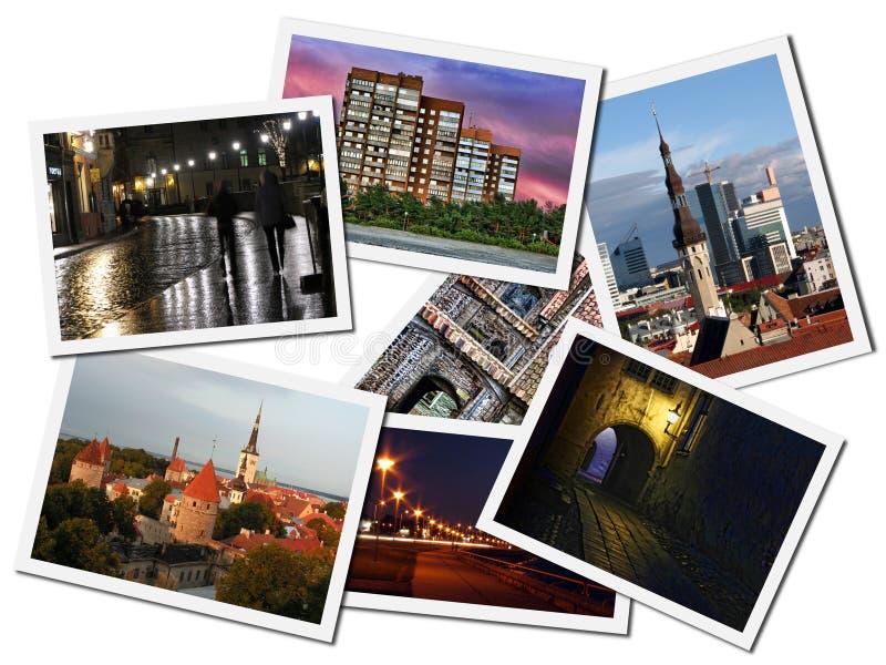 Cartes postales avec des bornes limites de Tallinn images libres de droits