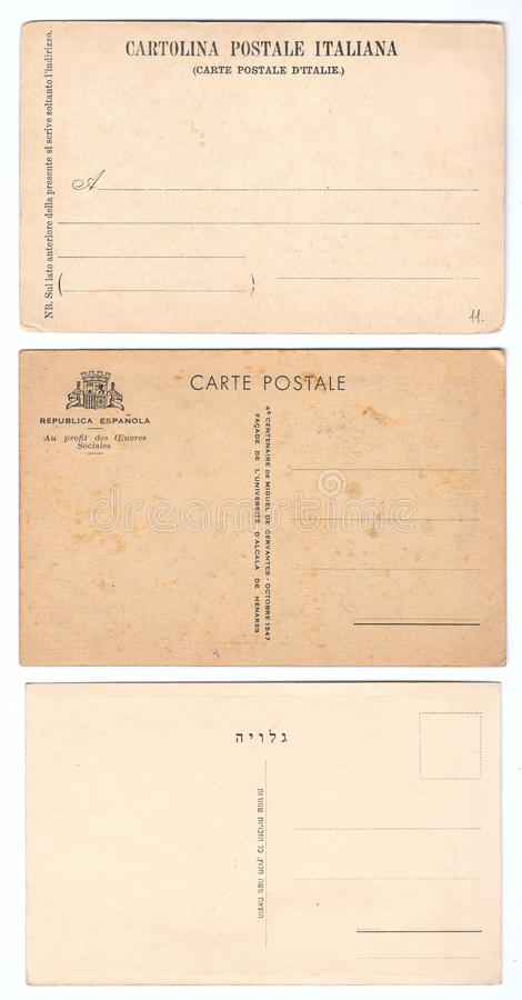 Cartes postales de cru photo stock