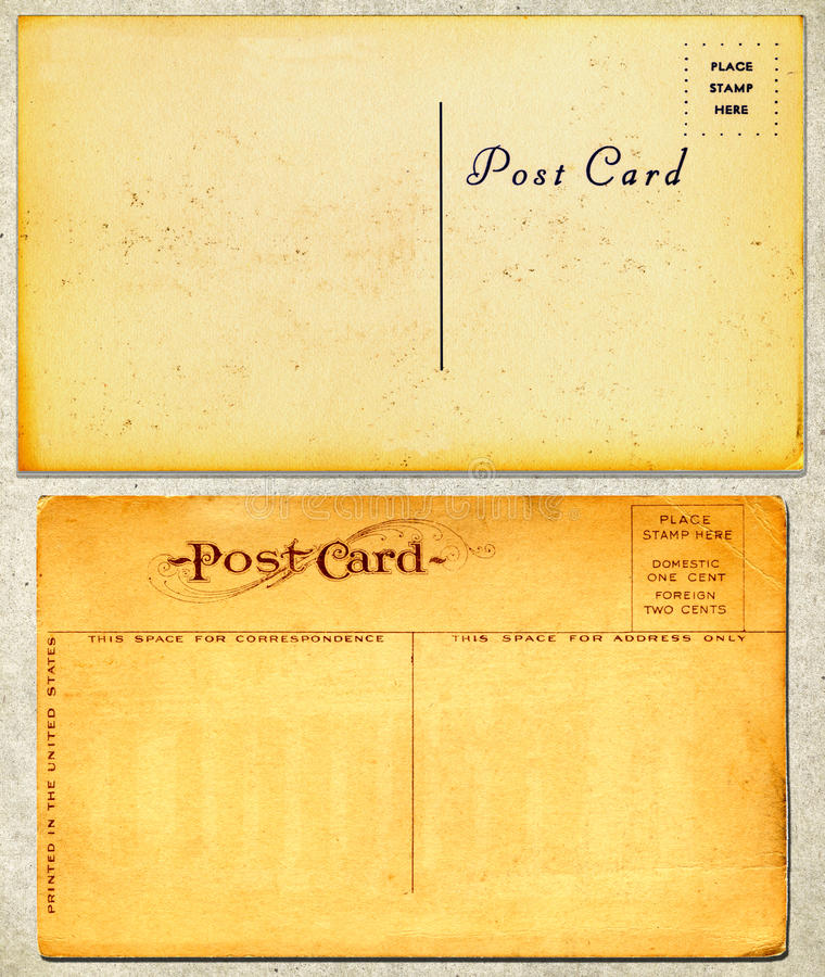 Cartes postales de cru photo stock