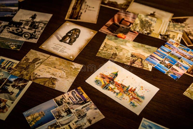 Cartes postales de vintage photo stock