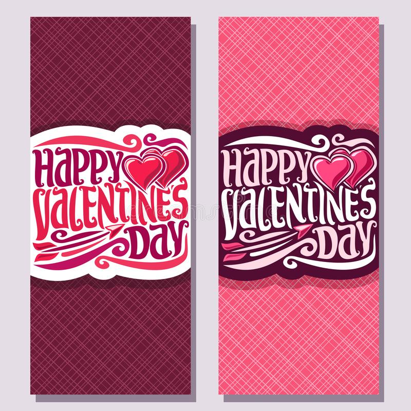 Cartes pour le jour du ` s de St Valentine illustration de vecteur