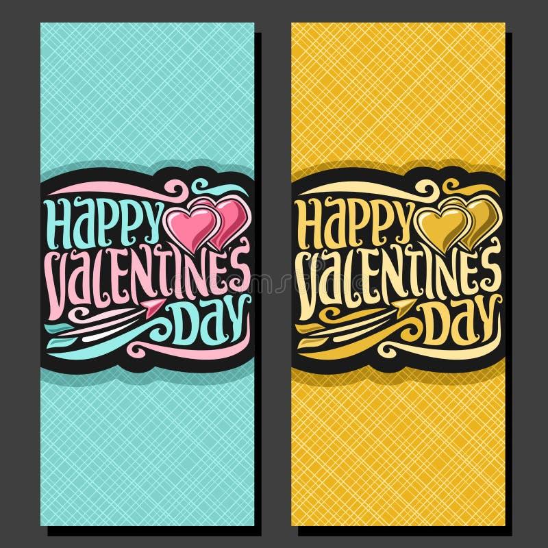 Cartes pour le jour du ` s de St Valentine illustration libre de droits