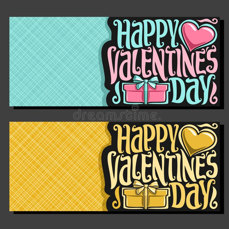 Cartes pour le jour du ` s de St Valentine illustration stock